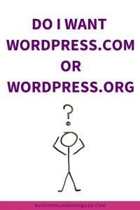 Creating a website for your coaching or VA business? Want a WordPress website? Learn which WordPress you need! #website #wordpress #onlinebiz