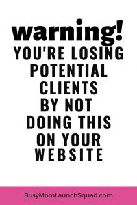 Don't make this major mistake your on your coaching or VA website. If you're booking clients and making fulltime pay from home, then fix this mistake now #website #coach #onlinebusiness