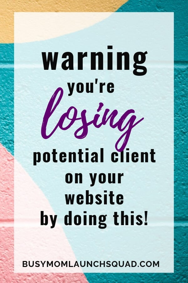 Learn what 1 mistake is costing you potential clients for your virtual assistant business. #website #webdesign #wordpress