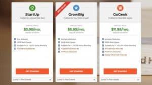 siteground hosting plan options