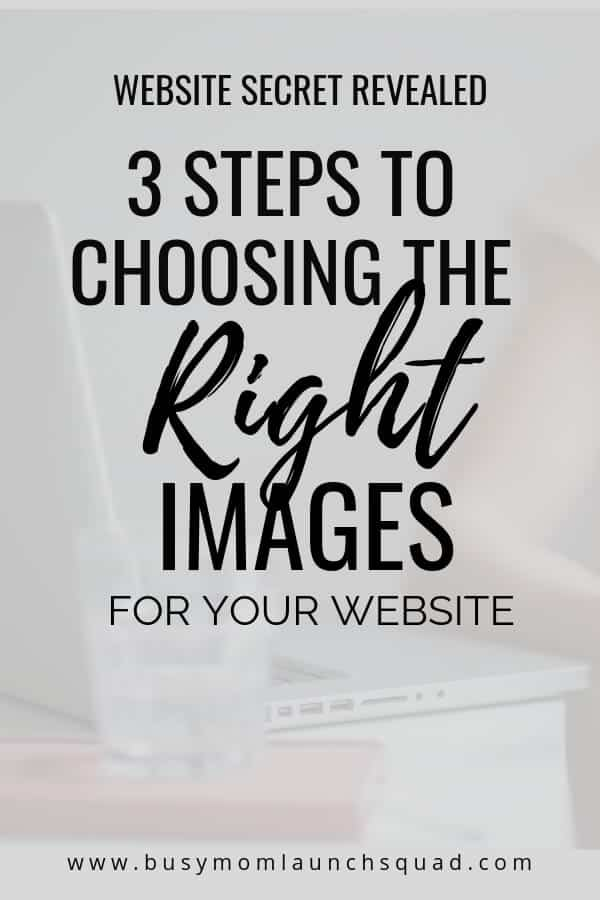 Tired of looking for stock photos? Learn how to choose the right images for your website in 3 easy steps #branding #webdesign #website