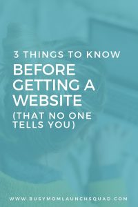Need a website for your new coaching or VA business? Find out what 3 things you need to know first that no one tells you. #vabusiness #onlinebiz #website