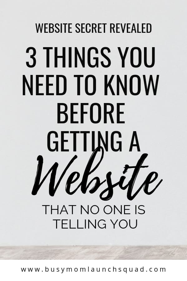 Thinking of getting a website for your new online business? Find out what 3 things you need to know so you don't waste your time or money! #website #branding #copywriting