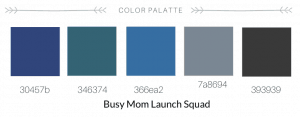 Color palette for Making Waves Social Media. Full service branding, web design, and copywriting for mompreneurs. #smm #va #branding