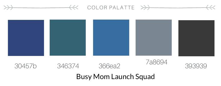 Color palette for Making Waves Social Media. Full service branding, web design, and copywriting for mompreneurs. #smm #va #branding