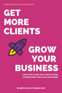 Learn what you can do to your website TODAY to get more clients and grow your online business #wahm #website #branding