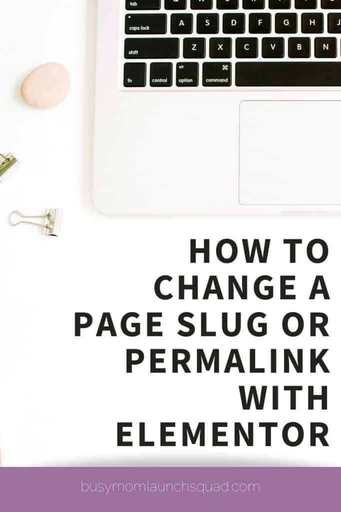 How to change a page slug or permalink with Elementor