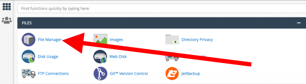 Wordpress file manager in CPanel