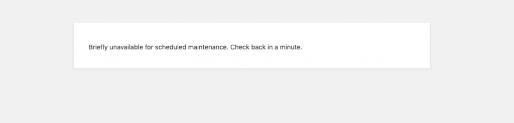 Wordpress briefly unavailable for scheduled maintenance