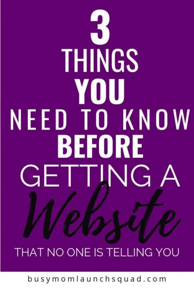 Starting an online business? Make sure you know these 3 things first! #onlinebiz #mompreneur #diywebsite